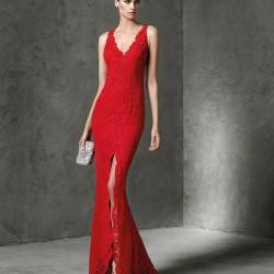 En Yeni Yırtmaçlı Kırmızı Abiye Modeli