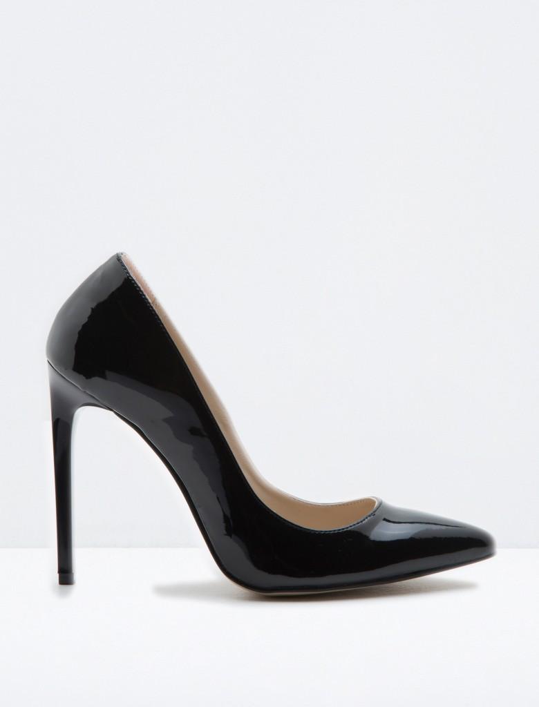 Sivri Burun Topuklu Koton Bayan Ayakkabı