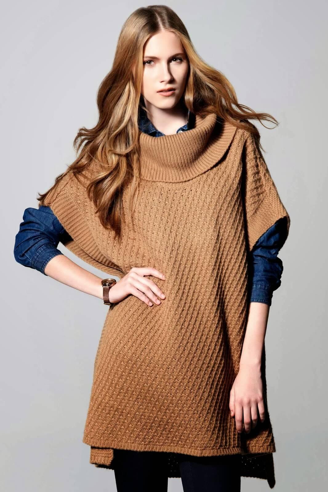 Kışlık Örgü Elbise Modelleri