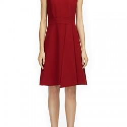 Vakko Kırmızı Renkli Abiye Elbise Modeli