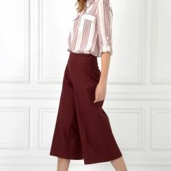 Çok Zarif Kırmızı Renkli Midi adL Bayan Pantolon Modeli
