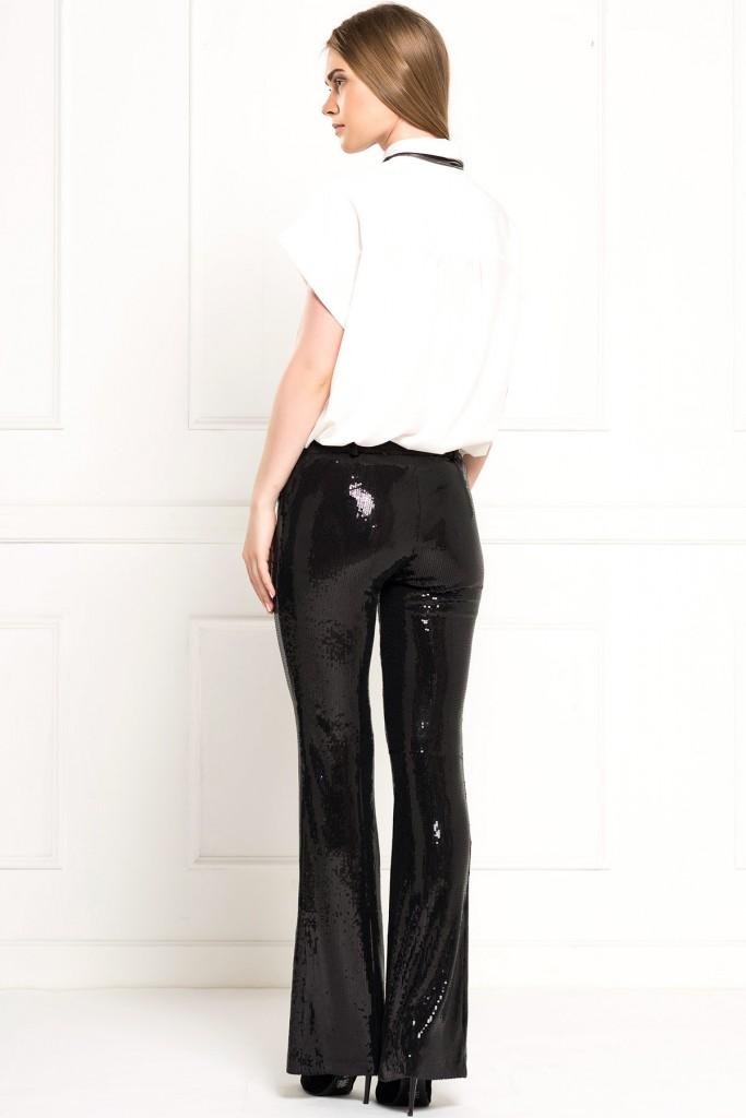 İroni İspanyol Paça Payetli Pantolon Modeli