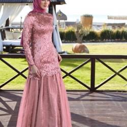 En Güzel Alvina Tesettür Abiye Elbise Modelleri