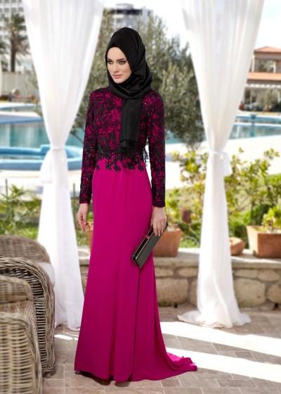 En Yeni Alvina Tesettür Abiye Elbise Modelleri