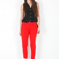 En Yeni Kırmızı Pantolon Kmbinleri