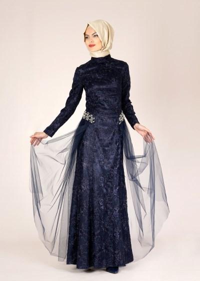 En Zarif Alvina Tesettür Abiye Elbise Modelleri 2016