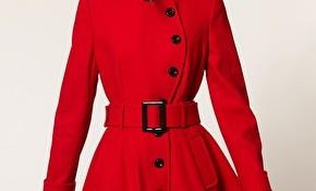 Kırmızı Renkli Kloş Kaban Modelleri