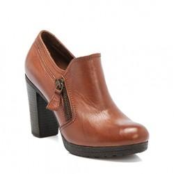 Kalın Topuklu Tergan Kışlık Bayan Ayakkabı Modelleri