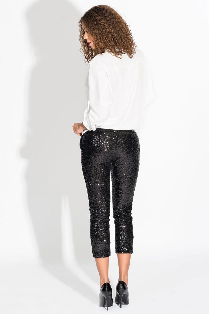 Pulpayet Siyah Renkli Payetli Pantolon Modelleri 2016