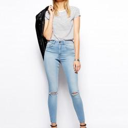 Yüksek Bel Yırtık Pantolon Modelleri 2016