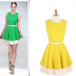 İki Renk Kloş Elbise Tasarımları