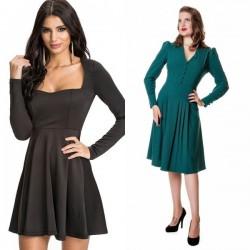 En Şık Yeni Kloş Elbise Modelleri 2016