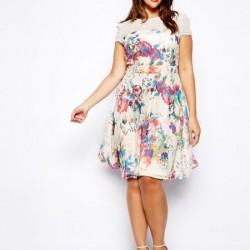 En Güzel Kloş Elbise Modelleri 2016