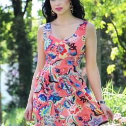 En Güzel Mini Kloş Elbise Modelleri