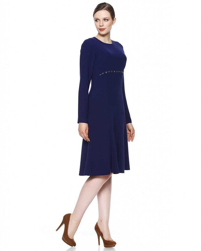 Saks Mavisi Seçil Store Çok Zarif Elbise Modeli