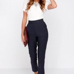 Yeni Moda Yüksek Bel Pantolon Kombinleri