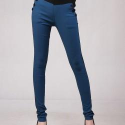 Düğme Detaylı Kalem Pantolon Modelleri 2016