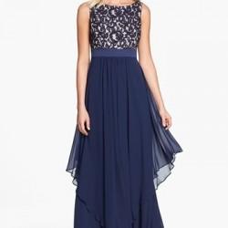 En Güzel İşlemli Şifon Elbise Modelleri
