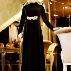 En Güzel Tesettür Kloş Abiye Modelleri 2016