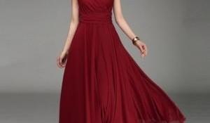 En Güzel Uzun Kloş Elbise Modelleri