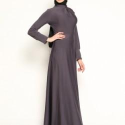 En Zarif Tesettür Kloş Elbise Modelleri