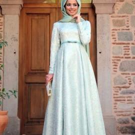 Kapalı Giyim Kloş Abiye Modelleri