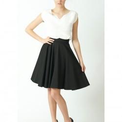 Siyah Renkli Kloş Etek Modelleri