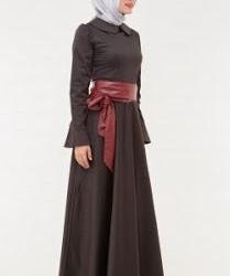 Yeni Sezon Bebe Yaka Tesettür Kloş Elbise Modelleri