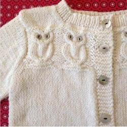 Baykuş Desenli Bebek Yelek Modelleri