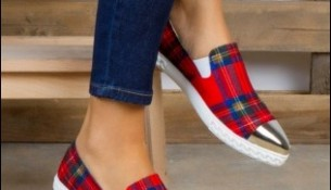 En Güzel Ekose Yazlık Bez Ayakkabı Modelleri 2016