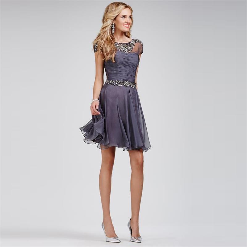 En Güzel Gri Renkli Abiye Elbise Modelleri 2016
