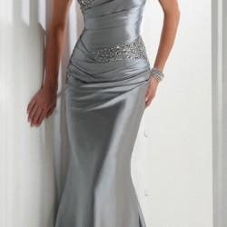 Straplez, Balık Etekli Gri Abiye Elbise Modelleri 2016