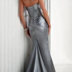 Yeni Sezon Gri Abiye Elbise Modelleri 2016