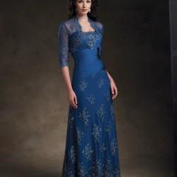 Çok Şık Bolerolu Anne Elbise Modelleri 2016