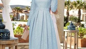 Alvina Giyim Tesettür Jakarlı Elbise Modelleri 2016