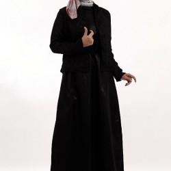 Bolerolu Siyah Tesettür Abiye Modelleri 2016