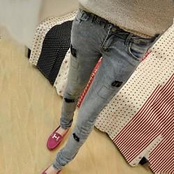 Dar Kesim Slim Fit Yamalı Kot Pantolon Modelleri 2016
