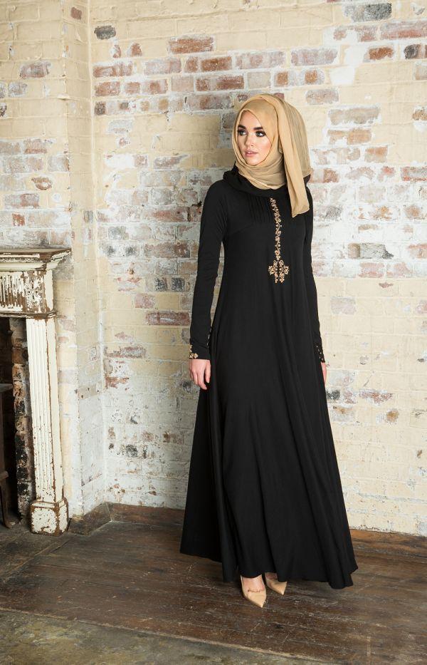 2127b045285a6 En Güzel Siyah Tesettür Abiye Modelleri 2016