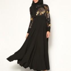 En Tarz Siyah Tesettür Abiye Elbise Modelleri 2016