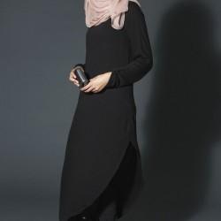 En Yeni Siyah Tesettür Elbise Modelleri 2016