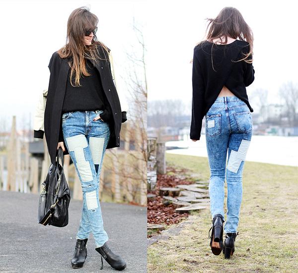 En Yeni Yamalı Kot Pantolon Modelleri 2016