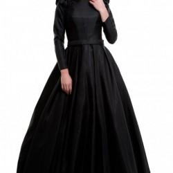 Gösterişli Siyah Tesettür Abiye Modelleri 2016