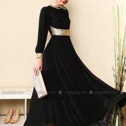 Modanisa Siyah Tesettür Abiye Modelleri 2016
