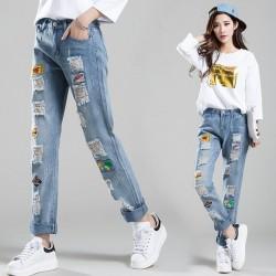 Yeni Sezon En Güzel Yamalı Kot Pantolonlar