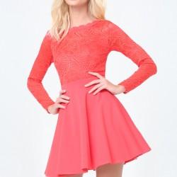 Çok Zarif İşlemeli Kloş Elbise Modelleri 2016