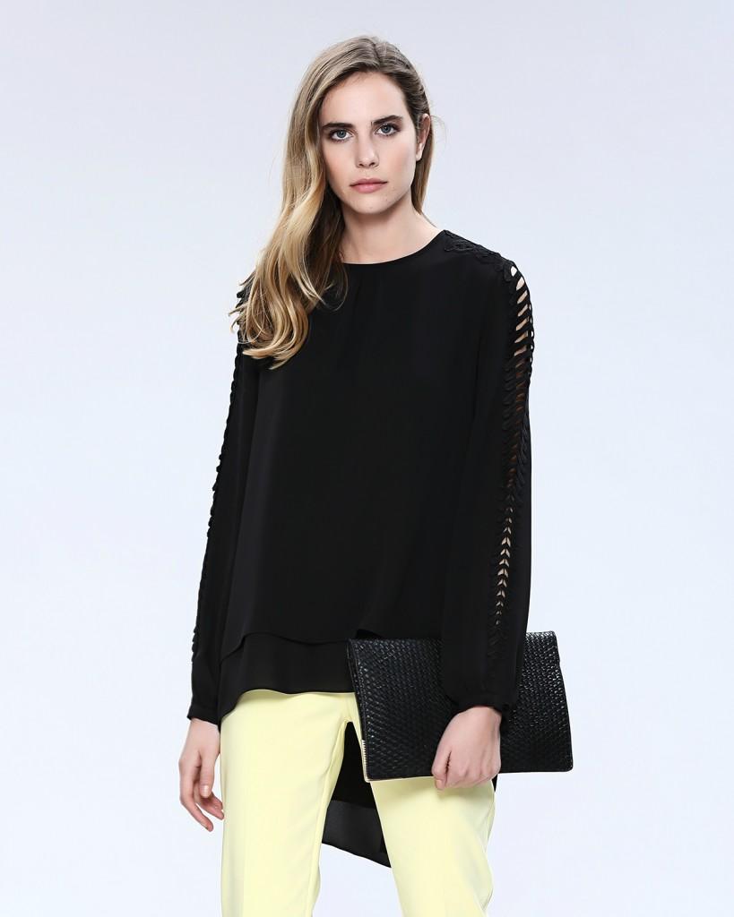 Dantel İşleme Kollu Seçil Store Bluz Modelleri 2016