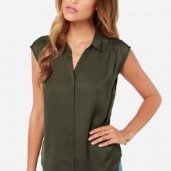En Şık Asker Yeşili Bluz Modelleri 2016