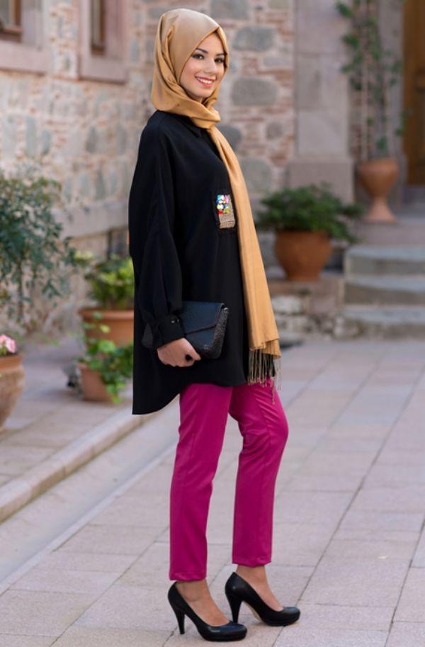 En Şık Sigaret Pantolon Tesettür Modelleri 2016