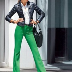 En Feminen Yeşil Pantolon Kombinleri