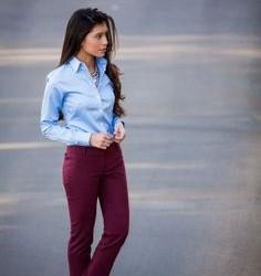 En Güzel Bordo Pantolon Modelleri 2016